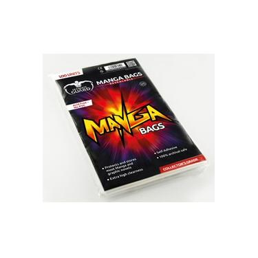 100 MANGA BAGS RESEALABLE 15 X 21,8 CM