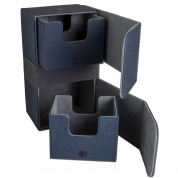 CONVERTIBLE PREMIUM DECK BOX DUAL 200+ STANDARD SIZE CARDS - BLUE