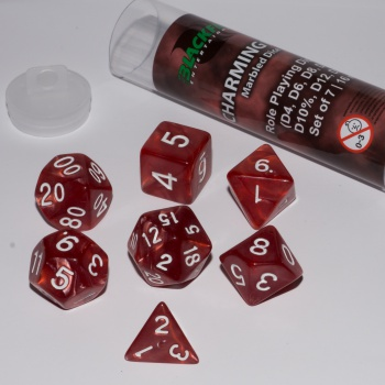 BF DICE - 16MM ROLE PLAYING DICE SET - CHARMING RED (7 DICE)