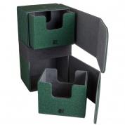 CONVERTIBLE PREMIUM DECK BOX DUAL 200+ STANDARD SIZE CARDS - GREEN