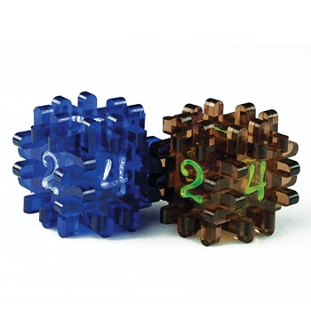 CONSTRUCTIBLE DICE - BLUE & BROWN