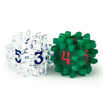 CONSTRUCTIBLE DICE - CLEAR & GREEN