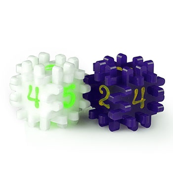 CONSTRUCTIBLE DICE - WHITE & PURPLE