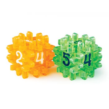 CONSTRUCTIBLE DICE - LIGHT GREEN & ORANGE