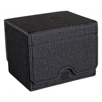 CONVERTIBLE PREMIUM DECK BOX SINGLE HORIZONTAL 100+ STANDARD SIZE CARDS - BLACK
