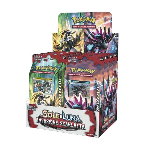 POKEMON SOLE E LUNA - INVASIONE SCARLATTA - BOX 8 MAZZI ITA