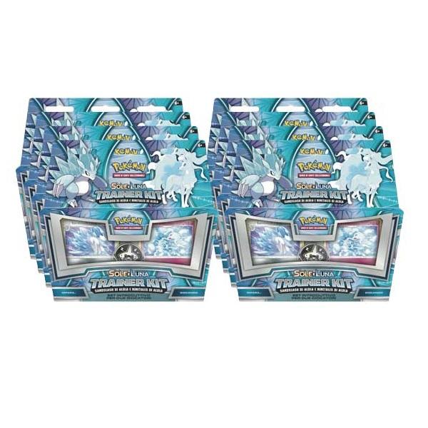 POKEMON TRAINER KIT - ALOLAN SANDSLASH & ALOLAN NINETALES BOX 8 PZ ITA