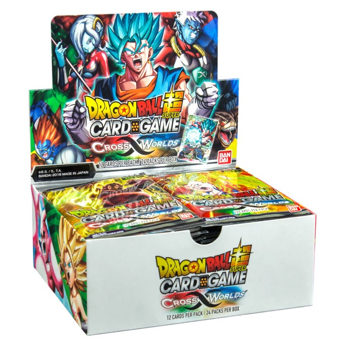 DRAGON BALL SUPER SET 03 CROSS WORLDS BOOSTER (BOX 24 BUSTE) CARD GAME ING