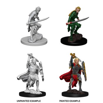 D&D NOLZU'S MARVELOUS MINIATURES: FEMALE ELF FIGHTER