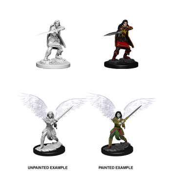 D&D NOLZU'S MARVELOUS MINIATURES: FEMALE AASIMAR FIGHTER - 6 UNITA'
