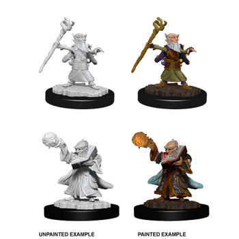 D&D NOLZU'S MARVELOUS MINIATURES: MALE GNOME WIZARD