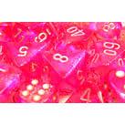 27204 BOREALIS #2 PINK/SILVER SET OF TEN D10'S