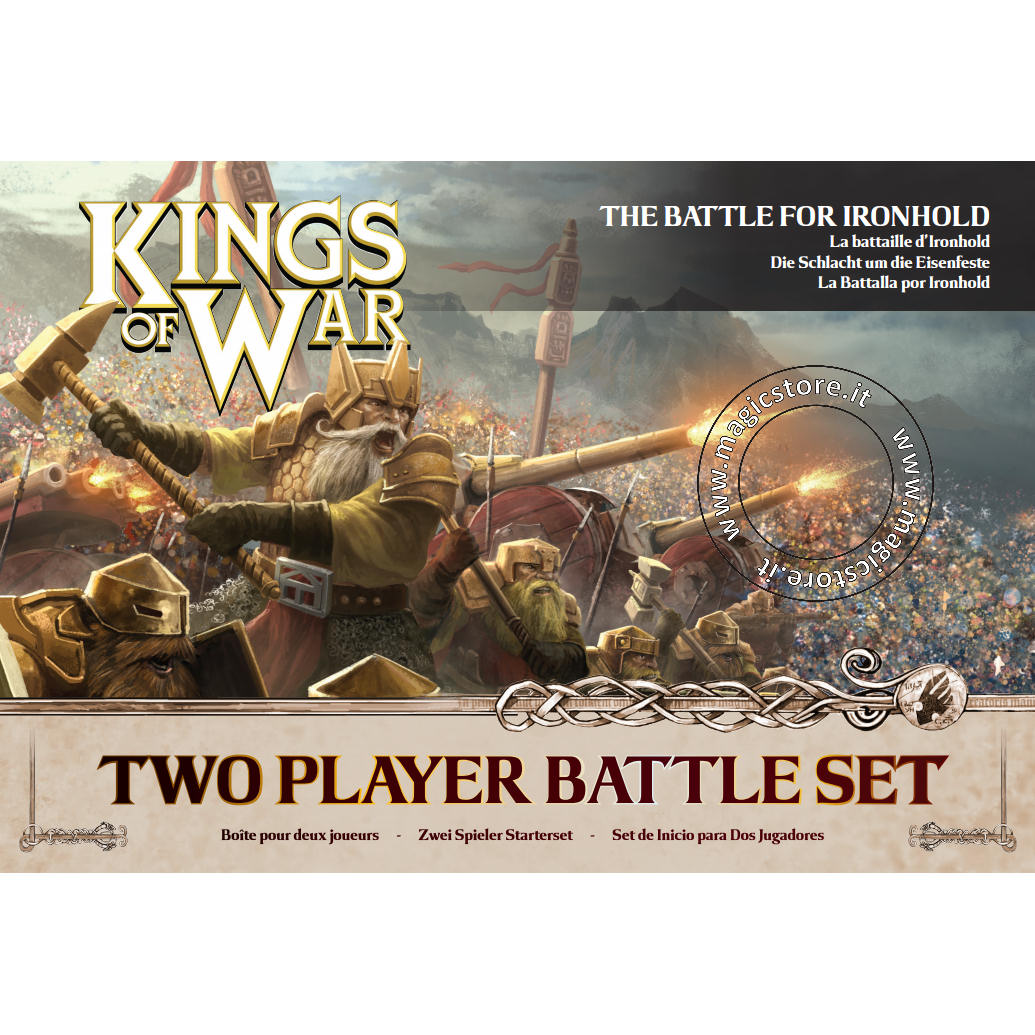 KINGS OF WAR 2ND EDITION TWO PLAYER BATTLE SET - INGLESE