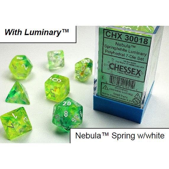 30018 NEBULA SPRING/WHITE LUMINARY 7-DADI SET