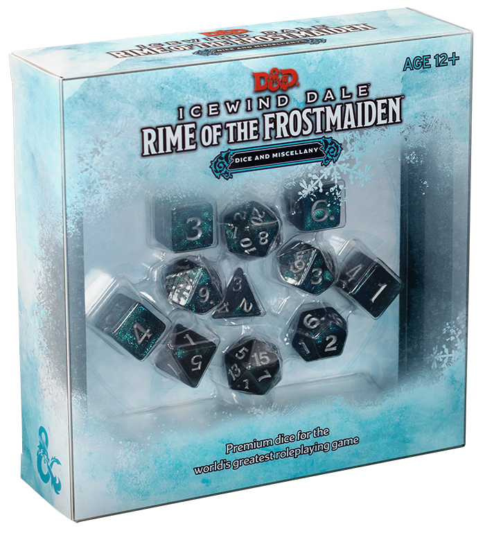 DUNGEONS & DRAGONS RPG DICE SET - ICEWIND DALE: RIME OF THE FROSTMAIDEN