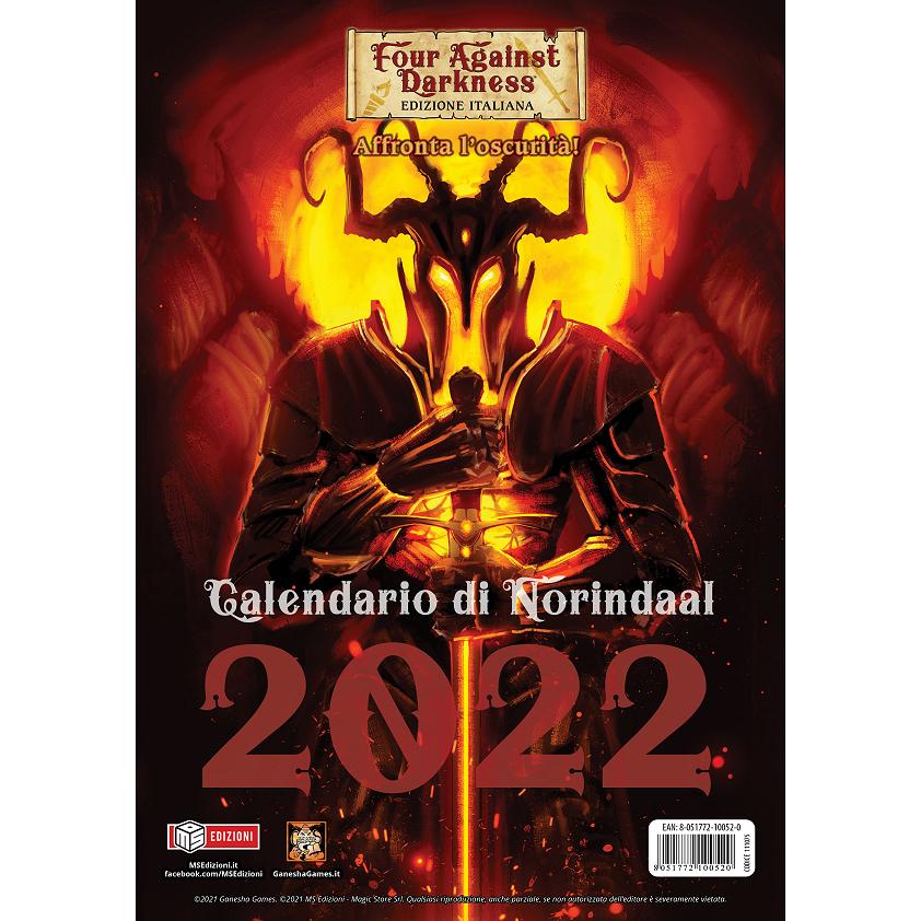 FOUR AGAINST DARKNESS - CALENDARIO DI NORINDAAL 2022