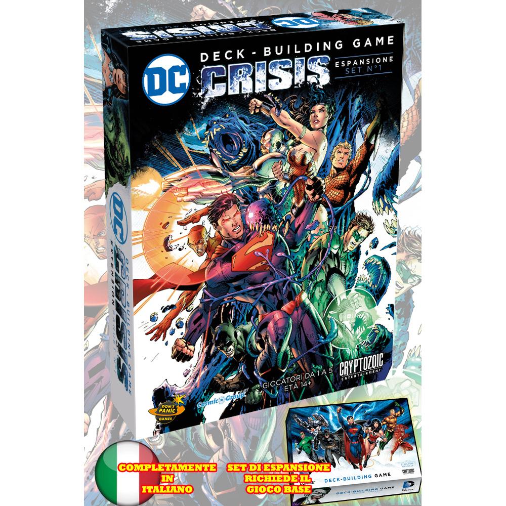 DC COMICS DECK-BUILDING GAME - CRISIS - ESPANSIONE - ITA