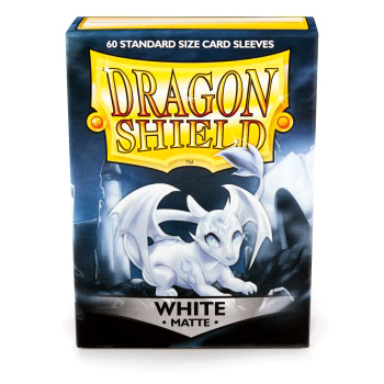 DRAGON SHIELD BUSTE PROTETTIVE STANDARD - MATTE - WHITE (60)