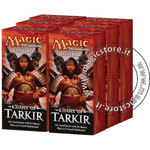 KHANS OF TARKIR - BOX 6 MAZZI EVENTO ING