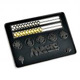 E-86702 MAGIC THE GATERING CARD SIZE BLACK ABACUS LIFE COUTER