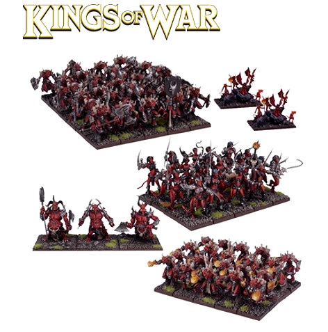 KINGS OF WAR ABYSSAL ARMY STARTER FORCE - INGLESE