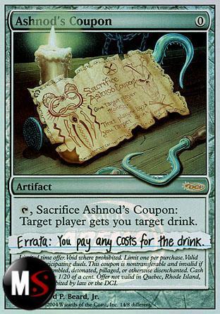 ASHNOD'S COUPON (ARENA FOIL)