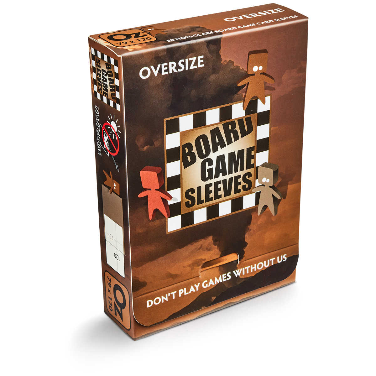 BOARD GAME SLEEVES - OVERSIZE (82X124) NON-GLARE - BUSTINE OPACHE (50)