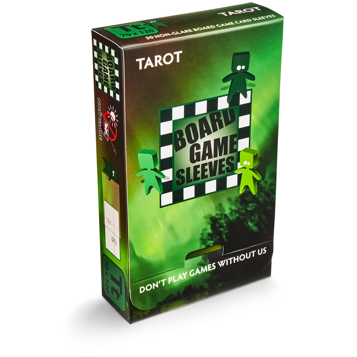 BOARD GAME SLEEVES - TAROT (70X120) NON-GLARE - BUSTINE OPACHE (50)