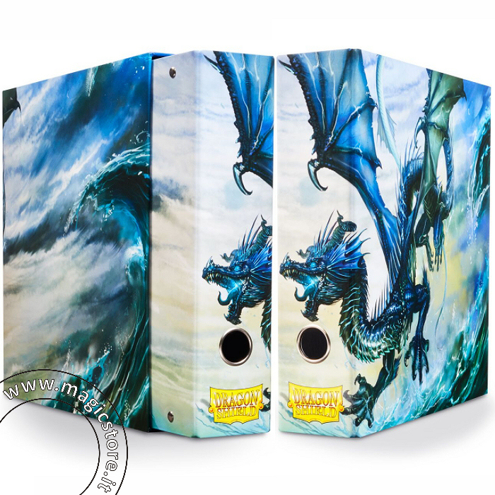 DRAGON SHIELD RACCOGLITORE AD ANELLI CON COFANETTO - BLUE ART DRAGON - SLIPCASE BINDER