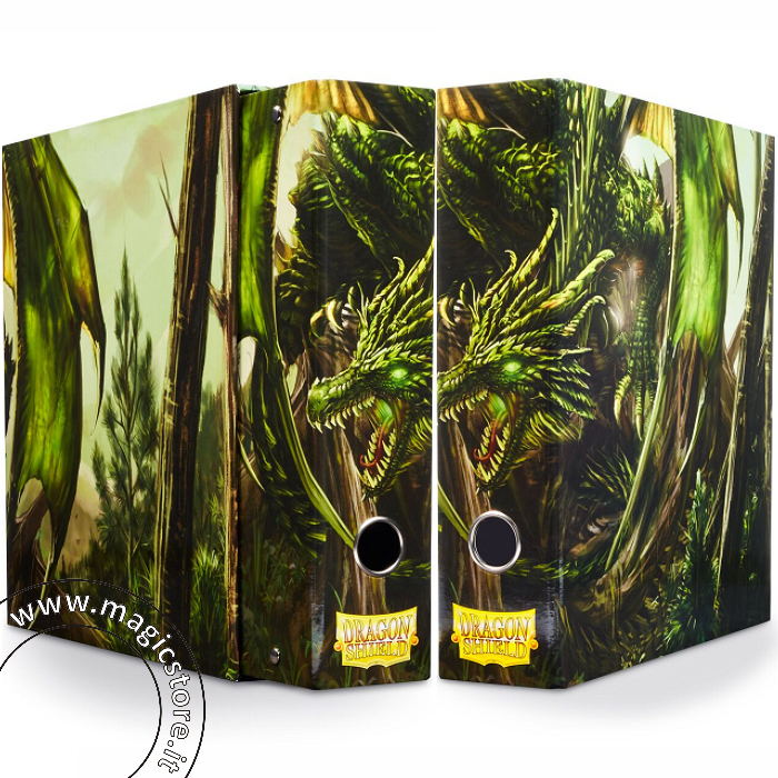 DRAGON SHIELD RACCOGLITORE AD ANELLI CON COFANETTO - GREEN ART DRAGON - SLIPCASE BINDER