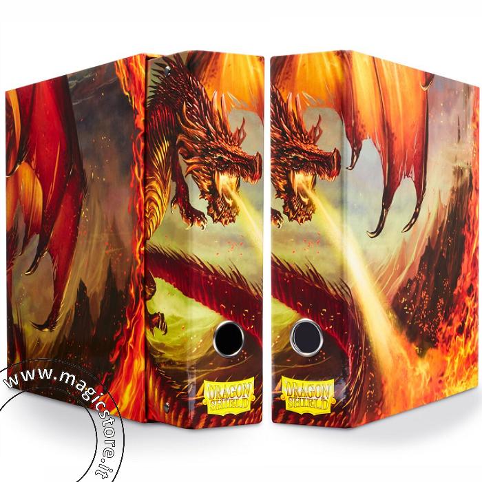 DRAGON SHIELD RACCOGLITORE AD ANELLI CON COFANETTO - RED ART DRAGON - SLIPCASE BINDER