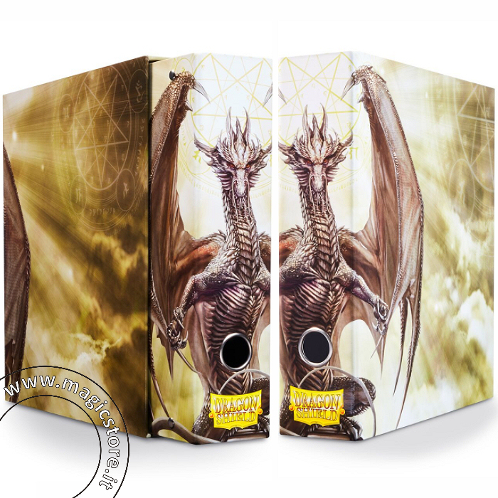 DRAGON SHIELD RACCOGLITORE AD ANELLI CON COFANETTO - WHITE ART DRAGON - SLIPCASE BINDER