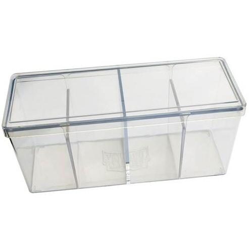 BOX 4 SPAZI - CLEAR (PER CONTENERE 320+ CARTE CON RELATIVE SLEEVES)