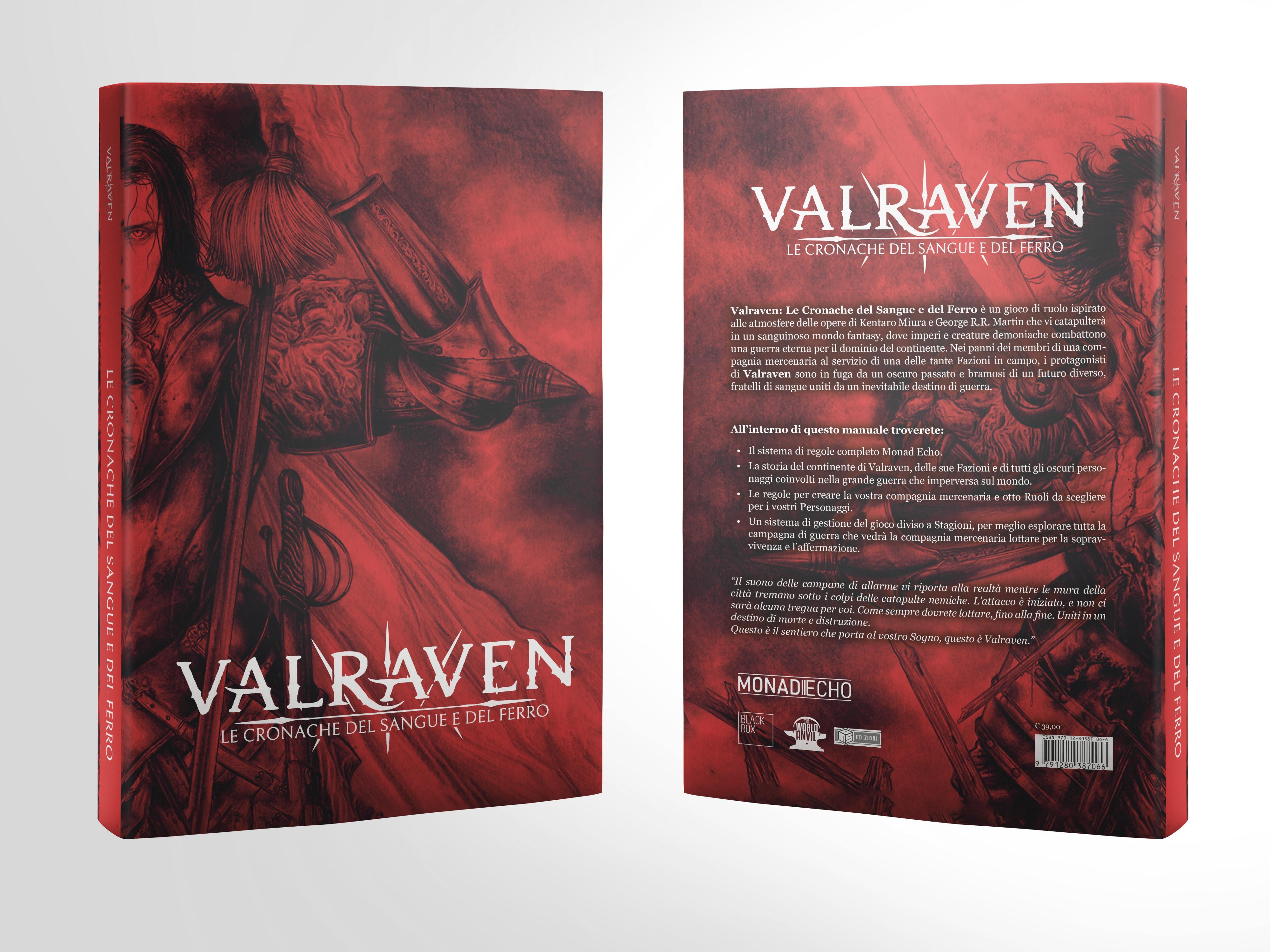 VALRAVEN: LE CRONACHE DEL SANGUE E DEL FERRO - MANUALE BASE (SOFT COVER) Foto 1