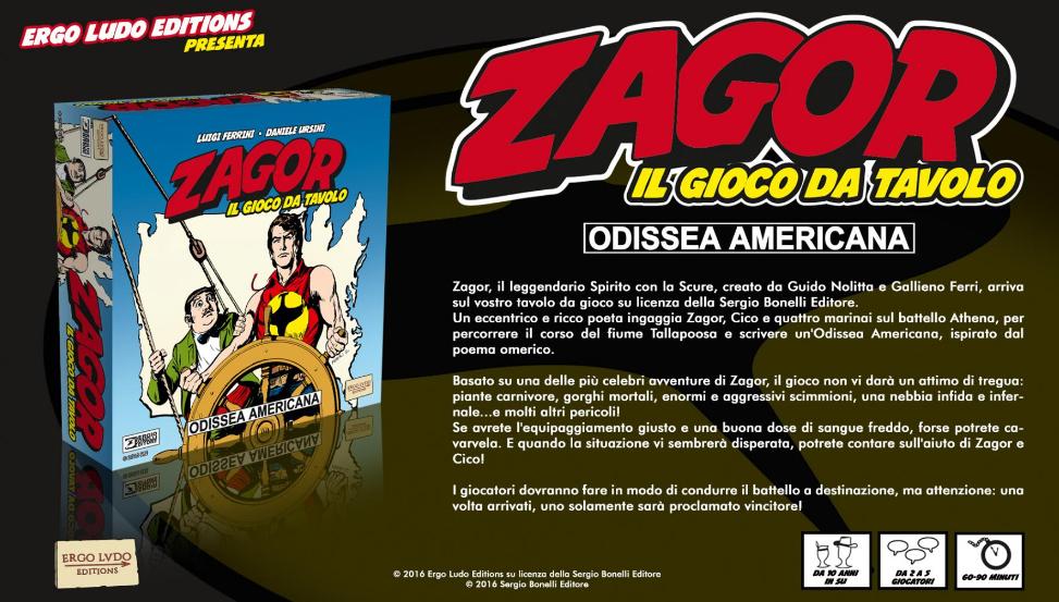 ZAGOR: ODISSEA AMERICANA - IL GIOCO DA TAVOLO Foto 1
