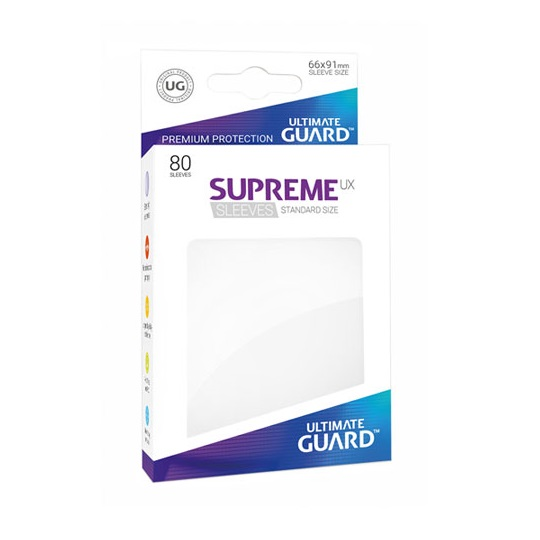 UGD SUPREME UX SLEEVES STANDARD SIZE - WHITE 80