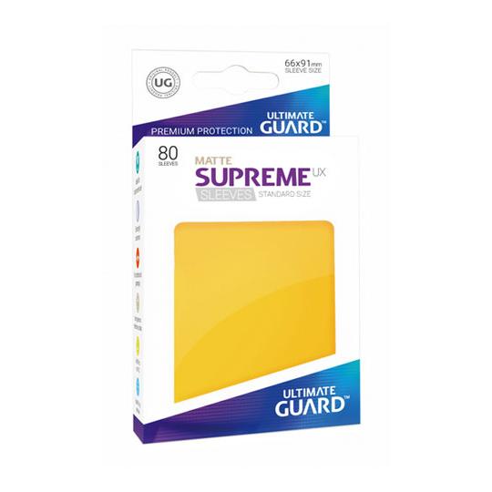 UGD SUPREME UX SLEEVES STANDARD SIZE - MATTE YELLOW 80
