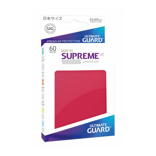 UGD SUPREME UX SLEEVES JAPANESE SIZE - MATTE RED 60