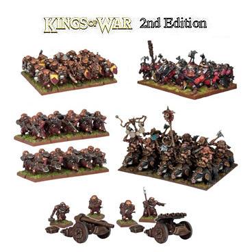 KINGS OF WAR DWARF STARTER FORCE - INGLESE