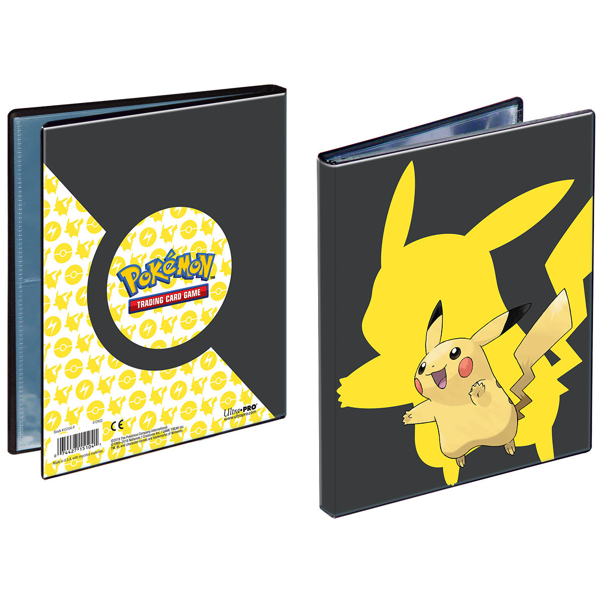 E-15104-P PICKACHU 4-POCKET PORTFOLIO FOR POKEMON