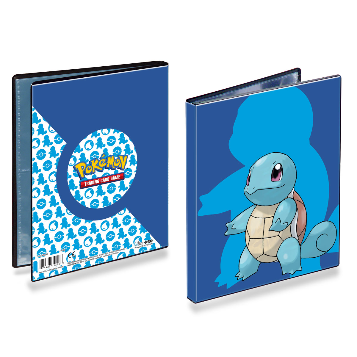 E-15390 SQUIRTLE 4-POCKET PORTFOLIO FOR POKEMON
