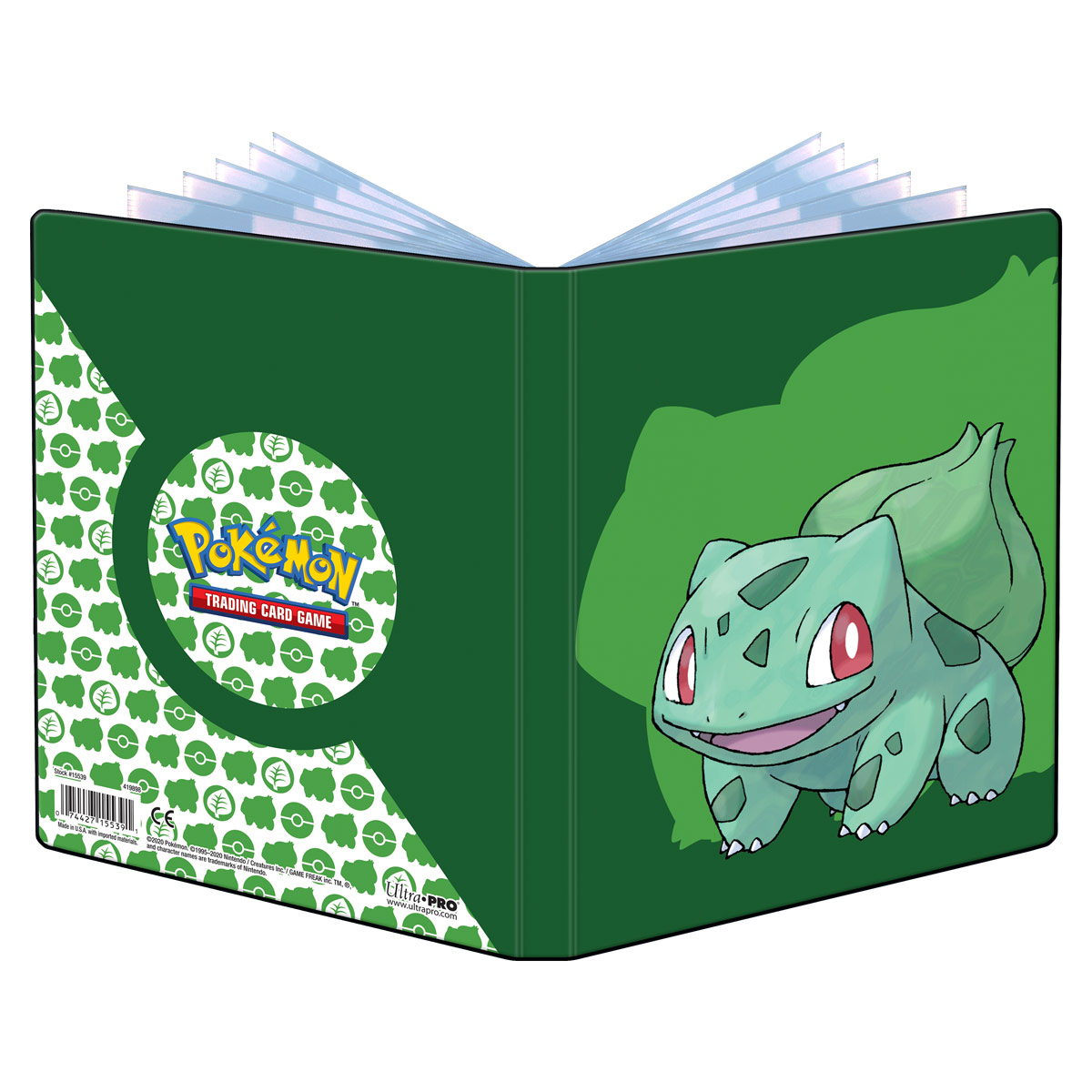 E-15539	BULBASAUR 4-POCKET PORTFOLIO FOR POKEMON