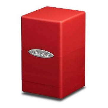E-84174 SATIN TOWER RED DECK BOX