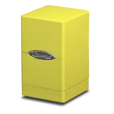E-84182 SATIN TOWER BRIGHT YELLOW DECK BOX