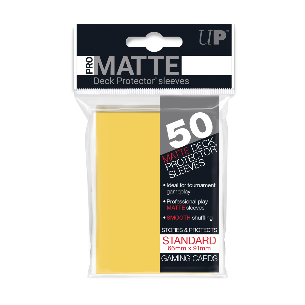 E-8418650PZ PRO-MATTE YELLOW STANDARD DECK PROTECTORS