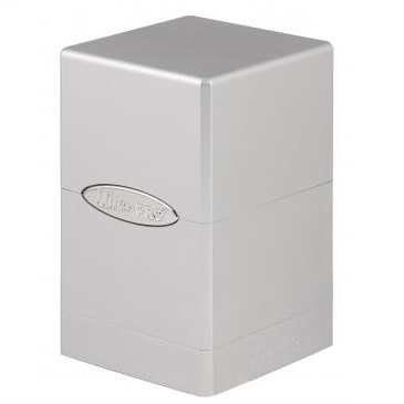E-84850 SATIN TOWER METALLIC SILVER DECK BOX