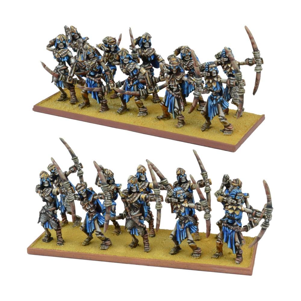 KINGS OF WAR EMPIRE OF DUST SKELETON ARCHER REGIMENT - INGLESE