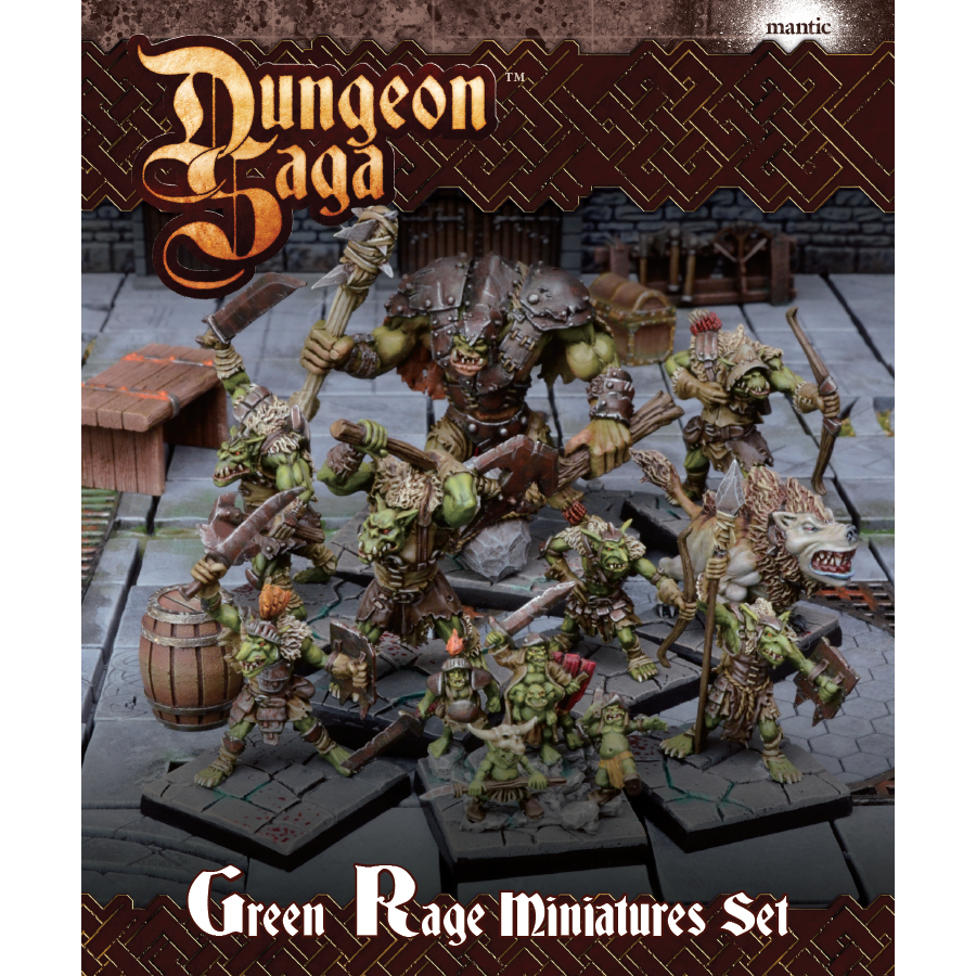 DUNGEON SAGA: GREEN RAGE MINIATURES SET - ACCESSORI