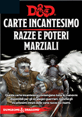 DUNGEONS & DRAGONS 5A EDIZIONE - CARTE INCANTESIMO RAZZE E POTERI MARZIALI