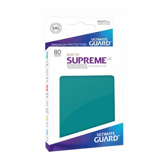 UGD SUPREME UX SLEEVES STANDARD SIZE - MATTE PETROL BLUE 80